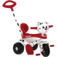 Triciclo Infantil Tonkinha Doggy Com Empurrador - Unissex-Branco+Vermelho