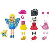 Mini Boneca - Polly Pocket - Festa A Fantasia - Polly E Cachorrinho - Mattel - Feminino