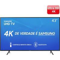 "Smart Tv Led 43"" Samsung 43Ru7100 Uhd 4K, Bluetooth, Hdmi, Usb, Hdr Premium, Controle Remoto Único Bivolt"
