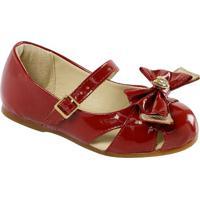 Sapato Boneca Em Couro Com Laã§O & Vazados- Vermelhaprints Kids