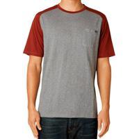 Camiseta Fox Raxcity Ss Knit Army - (G/L) - Masculino-Cinza