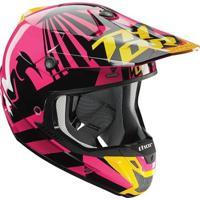 Capacete Para Motocross Thor Verge Dazz - Feminino