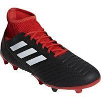 c26fe36660 Chuteira Predator® 18.3 Tf Campo - Preta   Vermelha Adidas