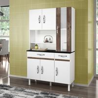 Cozinha Compacta Sampaio 6 Pt 2 Gv Branco E Chocolate