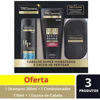 Kit Tresemme Shampoo Hidratação Profunda 200Ml + Super Condicionador Lisos E Ondulados 170Ml + Escova De Cabelo