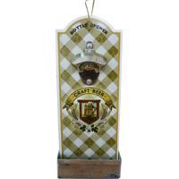 Abridor De Garrafa Kasa Ideia De Madeira Craft Beer