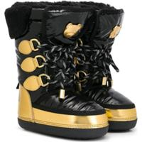Moschino Kids Lace-Up Snow Boots - Preto