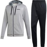 Agasalho Adidas Mts Lin Ft Hood Cinza - Cinza - Masculino - Dafiti