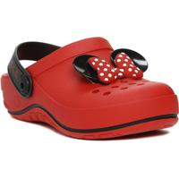 Chinelo Babuche Infantil Disney Feminino - Feminino-Preto