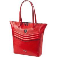 Bolsa Puma Ferrari Ls Shopper Feminina - Feminino-Vermelho