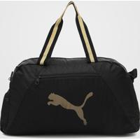Bolsa Puma At Ess Grip Bag Preto/Dourado - Preto - Feminino - Dafiti
