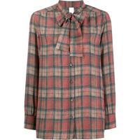 Ultràchic Camisa Com Estampa Xadrez - Vermelho