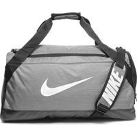 Bolsa Nike Brasilia Duffel Cinza/Preta