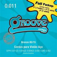 """Encordoamento Para Violão Aço Gfp4 - .011""""/.052"""", Full Package Groove"""