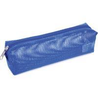 Estojo Ls Bolsas Em Tela Plastificada - Unissex-Azul