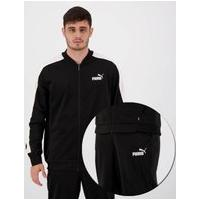 Agasalho Puma Baseball Tricot Suit Preto E Branco