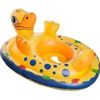 Boia Infantil Nautika Seat Animal Pato Com Suporte De Segurança - Unissex-Amarelo