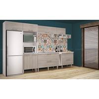 Cozinha Modulada Completa Com 8 Módulos Branco/Fresno - Art In Móveis