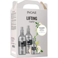 Kit Inoar Lifting Capilar 1 Shampoo 1L + 1 Tratamento 1L + 1 Leave-In 250Ml - Unissex-Incolor