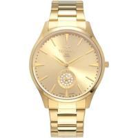 Relógio Technos Slim Aço Feminino - Feminino-Dourado