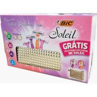Kit De Depilação Bic Soleil Com 4 Aparelhos Descartáveis + Grátis 1 Necessaire Cores Sortidas