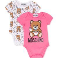 Moschino Kids Macacão Com Estampa De Urso - Rosa