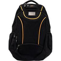 Mochila Backpack Sport- Preta & Laranja- 51X35X26Cm