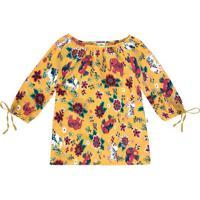 Blusa Floral- Amarela & Rosa-Primeiro Passos-Pucpuc