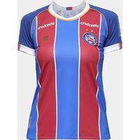 Camisa Bahia Ii 20/21 S/N° Torcedor Esquadrão Feminina - Feminino-Azul+Vermelho