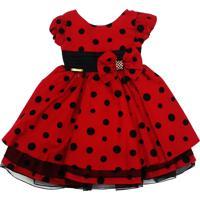 Vestido Fantasia Ladybug Minnie Vermelho - Tam 1 Ao 3