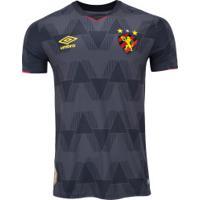 Camisa Do Sport Recife Iii 2019 Umbro - Masculina - Preto/Vermelho