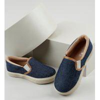 Tênis Jeans Infantil Baby Club Slip On Azul Escuro