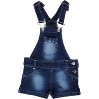 Macacão Jeans Infantil Para Menina -