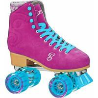 Patins Quad Roller Derby Candi Girl Carlin Raspberry - Feminino-Pink+Azul