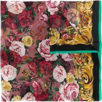 Dolce & Gabbana Echarpe Com Estampa De Rosa