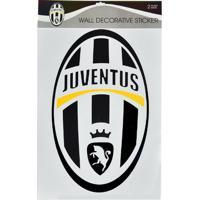 Cartela Com 4 Adesivos De Parede Juventus - Unissex