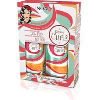 Kit Inoar Shampoo + Condicionador Divine Curls 250 Ml.