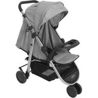 Carrinho De Bebê Multikids Baby Agile 3 Rodas - Unissex-Cinza