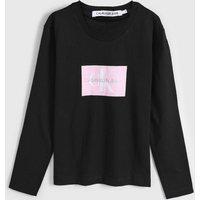 Blusa Calvin Klein Kids Infantil Logo Preta
