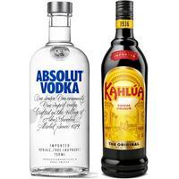 Kit Licor Creme De Café Kahlúa 750Ml + Vodka Absolut Regular 750Ml Kit268