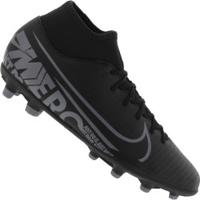Chuteira De Campo Nike Mercurial Superfly 7 Club Fg/Mg - Adulto - Preto/Cinza