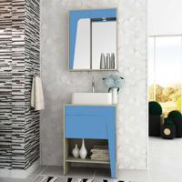 Conjunto Para Banheiro Elisa I Taeda E Azul Neon