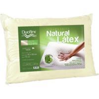 Travesseiro Natural Látex Duoflex Capa 100% Algodão Dry Fresh Bege