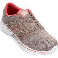 Tênis Skechers Go Walk 4 Exceed Feminino - Feminino-Coral