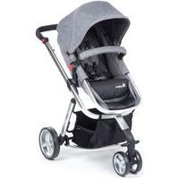 Carrinho De Bebê Mobi Safety 1St Grey Denim Silver
