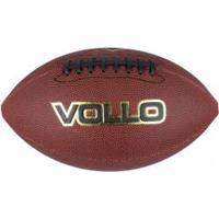 Bola De Futebol Americano Vollo Oficial 9 - Marrom