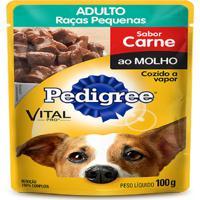 Ração Pedigree Sachê Adulto Raças Pequenas Carne Ao Molho - Caixa Com 9 Unidades