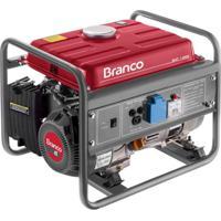 Gerador B4T1300 A Gasolina 110V Branco Vermelho