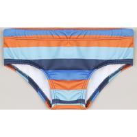 Sunga Infantil Slip Listrada Com Proteção Uv50+ Azul