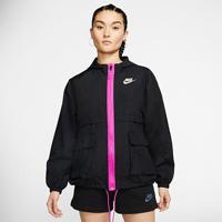 Jaqueta Corta-Vento Nike Sportswear Icon Clash Feminina - Feminino-Preto